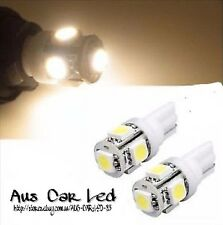 1 PAIR T10 LED SMD SUPER BRIGHT 4000k Warm WHITE 194 W5W NUMBER PLATE GLOBES