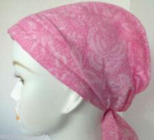 Pink Batik Cancer Chemo Hat Alopecia Hairloss Scarf Turban Headwrap Bad Hair Day