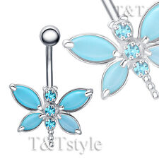 Dragonfly Belly Button Ring Ttstyle Tt Blue Cat's-eye