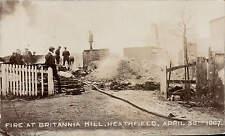 Heathfield. Fire at Britannia Mill April 30th 1907.
