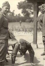 WWII German RP- Luftwaffe Soldier- Overseas Hat- Doing Pushups- Sports- Comic
