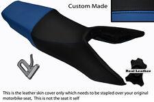Negro Y Azul Real personalizado se adapta a Honda Vfr 750 F las 90-93 Doble Cuero Funda De Asiento