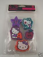 Hello Kitty pencil top erasers 5 different designs Sanrio Make school work fun