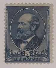 Travelstamps: 1888 US Stamps Scott #216, 5c Indigo, Garfield, Mint, No Gum