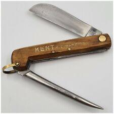 Couteau ancien de marin plaquettes bois-pub.KENT Cigarettes-Pocket knife wood