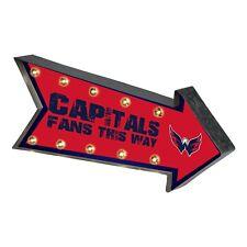 "Washington Capitals Arrow Marquee Sign - Light Up - Room Bar Decor NEW NHL 18"""