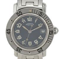 HERMES Clipper diver CL5.210 blue Dial Quartz Ladies Watch F#95031