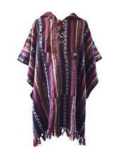 Brushed Cotton Stripe Nepal Poncho Fleece Hippy Festival