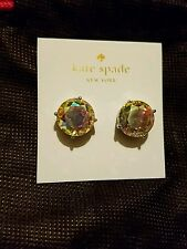 Brand New Kate Spade Large Aurora Bourealis Gumdrop Stud Earrings