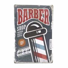 "Barber Shop, Premium Quality Service, Metal Tin Sign 12"" x 8"""