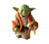 Yoda Vintage Star Wars Action Figure Complete w/ Orange Snake 1980 Kenner HK ESB