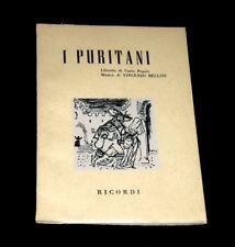 I Puritani livret seul Pepoli opéra Bellini 1961