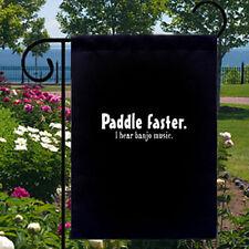 Paddle Faster Banjo Music New Small Black Garden Yard Flag Decor Gifts Humor