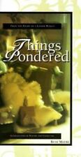 THINGS PONDERED by BETH MOORE--1st Edition/HC/DJ