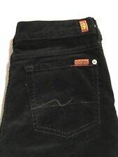 7 Seven For All Mankind Roxanne Corduroy Pants Jeans Girls Size 14 Black