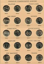 State Quarters 1999 - 2008 Coin Set Collection & Dansco Album 7143 - JN893