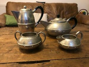 English pewter 4 piece tea set Sheffield.