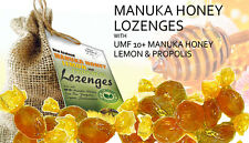 Lozenges For Sore Throat UMF 10+ Manuka Honey Lemon Propolis Natural Organic