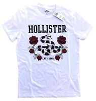 Hollister California Mens Rose and Animal Logo print Graphic Tee Free Shipping
