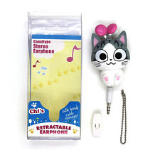 Cute Small Retractable Cartoon Earphone with Microphone 1M Cable Wired Ear Phone