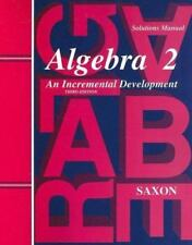 Saxon Homeschool Algebra 2 Solutions / Teachers Manual (3rd Edition) - NEW!