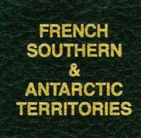 Scott Green Binder FRENCH SOUTHERN & ANTARCTIC TERRITORIES Label Stamp Albums