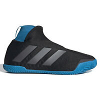 ADIDAS STYCON LACELESS HC Womens Hard Court Tennis Shoes - Black Blue - Size 9.5