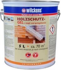 WILCKENS Holzschutz Gel tropfgehemmt Holzschutzfarbe Lasur seidenmatt 5L TEAK