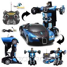 Telecomando Bugatti Veyron Transformers Robot Auto con Caricabatterie USB BATTERIA