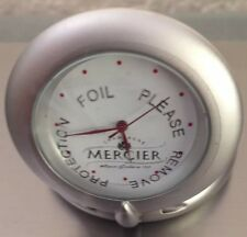 MERCIER CHAMPAGNE MOET  TRAVEL  ALARM CLOCK  BRAND NEW IN TIN