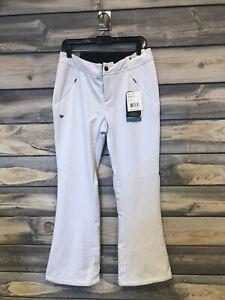 Women's Obermeyer Hillary Stretch ski Pant color White SIze 10