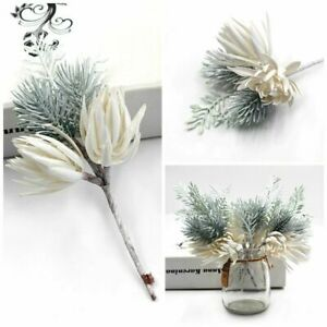 20x Christmas Artificial Pine Branches Fake Flowers Xmas Home Party Decor 8*16cm