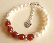 Carnelian Gemstone Crystal Healing Love Desire Fertility Valentines Bracelet