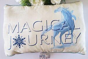 Disney Frozen 2 Magical Journey Silver Sequins Super Soft Throw Pillow 24x16 in