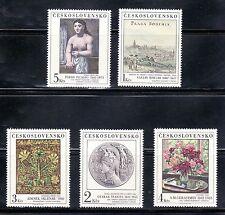 CHECOSLOVAQUIA  1981 ARTE. PINTURA. 2464/68 PABLO PICASSO 5v.