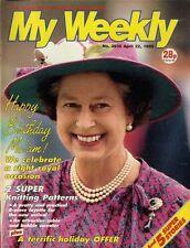 MY WEEKLY MAGAZINE 22/4/1989 KNITTING PATTERN BABY DAYS A PRETTY LAYETTE