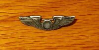 WW2 Original US ARMY AIR CORPS Mini Observer Wings Sterling Silver Pin Award