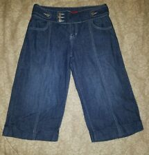 FIRE JEANS Jr. Miss SZ 9 Blue Jean Wide Leg Capri Pants