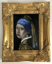 Original Baroque Abstract portrait 'The Girl with a Pearl Earring' Vermeer
