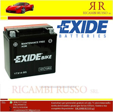 BATTERIA EXIDE YTX14-BS=FIAMM FTX14-BS CAGIVA CANYON 600 ANNO 1996 1997 1998