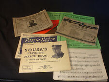 Old Vtg Collectible Variety Of Music Books With Music Sheets In Lot Of 10