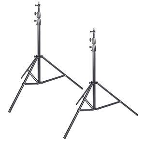 Studio Light Stand x2 3m Heavy Duty Adjustable Professional Tripod Spring Spigot