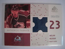 Milan Hejduk 2002-03 Upper Deck SP Game Used AUTHENTIC FABRICS GAME-USED JERSEY
