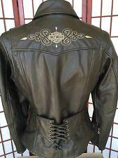 Harley Davidson Jacket Women XS EXTRA-Small Leather Biker Motorcycle #97015-04VW