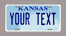"""KANSAS custom novelty license plate-your name or text 6""""x12""""-FREE SHIPPING"""