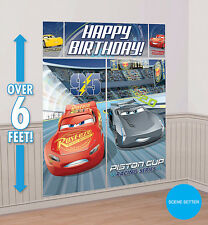 CARS Party Supplies SCENE SETTER 5 Pc Wall Decorating Kit NEW DESIGN