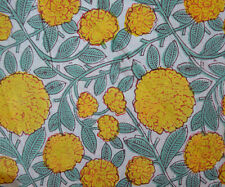 10 Yard Indian Hand block Print Running Loose Cotton Fabrics Printed Decor #25