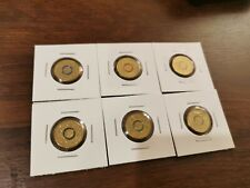 2016 OLYMPIC GAMES RIO AUSTRALIAN OLYMPIC TEAM $2 COIN FULL SET OF 6 LIGHTLY!