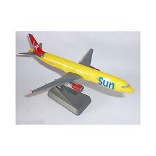Virgin Sun Airbus A320 Airplane Miniature Model Plastic Snap Fit 1:200 Scale