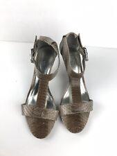 STYLE & CO. Women Mckenzi T-Strap Heels Sandal with Buckle - Snakeskin Sz 7M